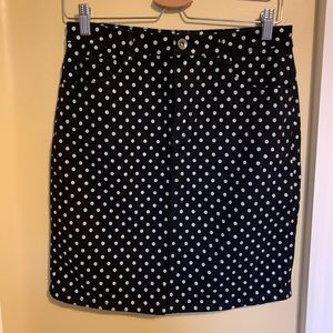 Dresses & Skirts - Black denim polka dot skirt
